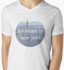 It's Better In New York Men's V-Neck T-Shirt