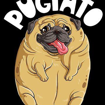 Pugtato Mops-Kartoffel-T-Shirt Hundeliebhaber-lustiges Meme-Kostüm-T-Stück von LiqueGifts