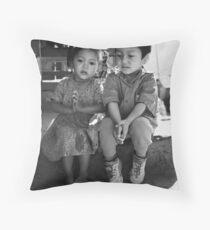 Nepalese kiddies Throw Pillow
