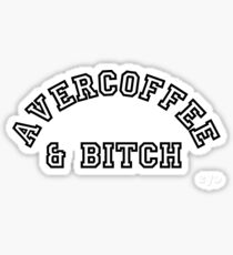 AVERCOFFEE & BITCH: Black logo Sticker