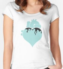 Pastel Goth Heart Women's Fitted Scoop T-Shirt
