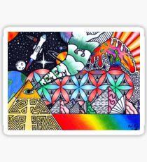 Pyramiden von Dimethyltryptamin (DMT) Sticker
