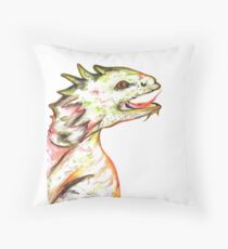 Little Green Dragon Throw Pillow