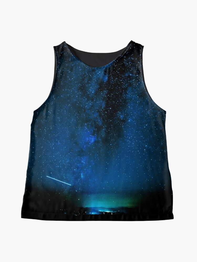 Alternate view of Stars and Space Night Sky - Blue Starry Milky Way in Arizona Sleeveless Top