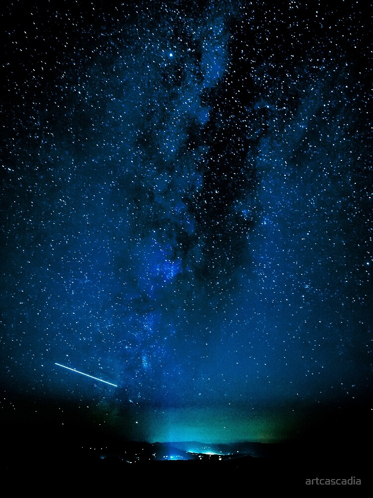 Stars and Space Night Sky - Blue Starry Milky Way in Arizona by artcascadia
