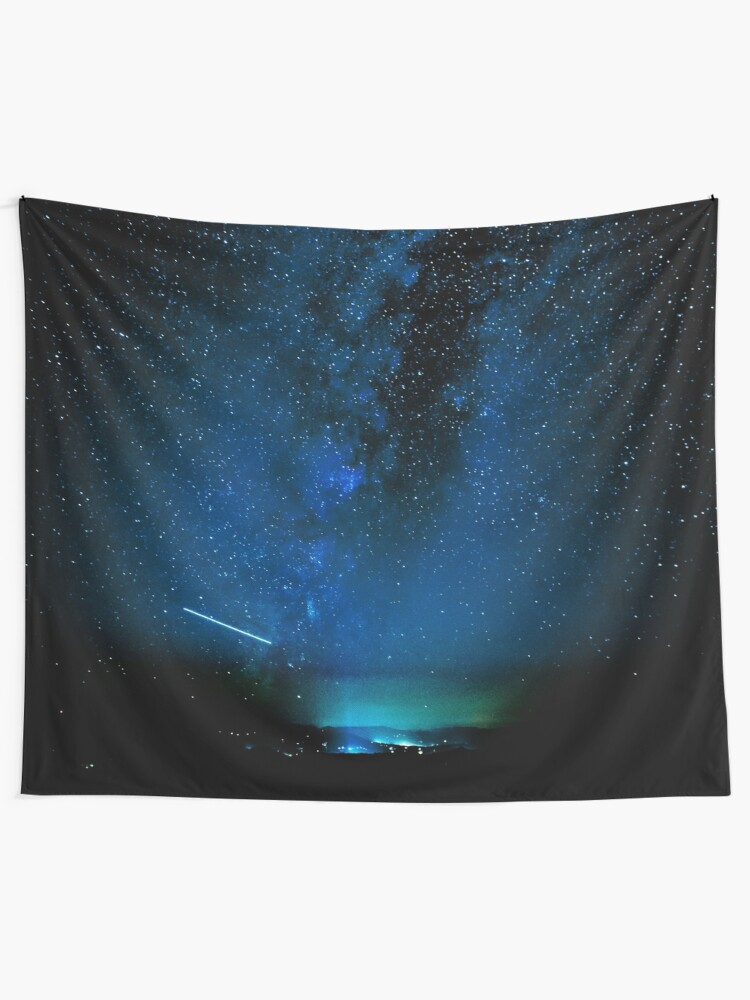 Alternate view of Stars and Space Night Sky - Blue Starry Milky Way in Arizona Wall Tapestry
