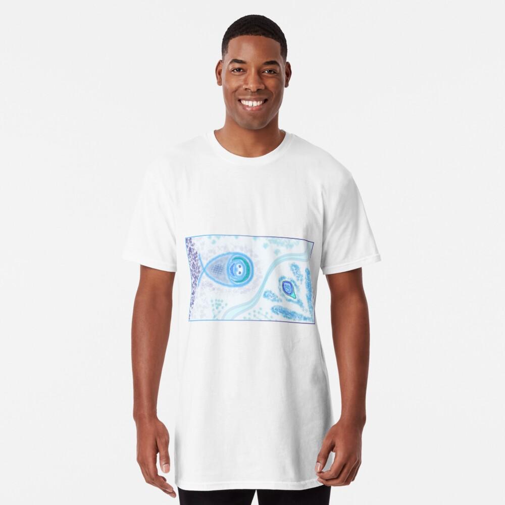 Merch #2 -- Aquatic Splatter Splash Long T-Shirt