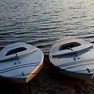 Sailboats at Lake Crabtree III by mojo1160