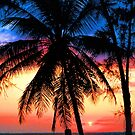 SUNSET,KEY BISCAYNE by Chuck Wickham