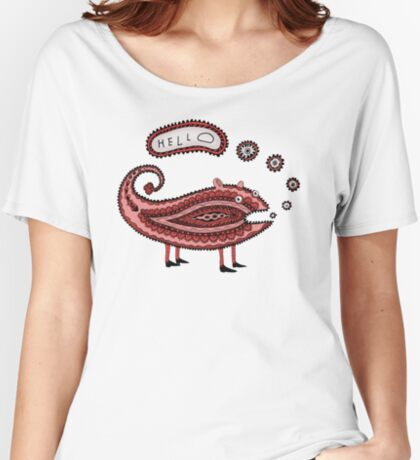 Paisley Chameleon says Hello Women's Relaxed Fit T-Shirt