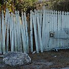 the imperfect white picket fence. by Amanda Huggins