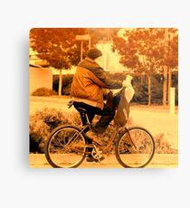 ridin a bike. Metal Print