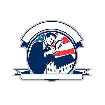 American Home Inspector USA Flag Circle Icon by patrimonio