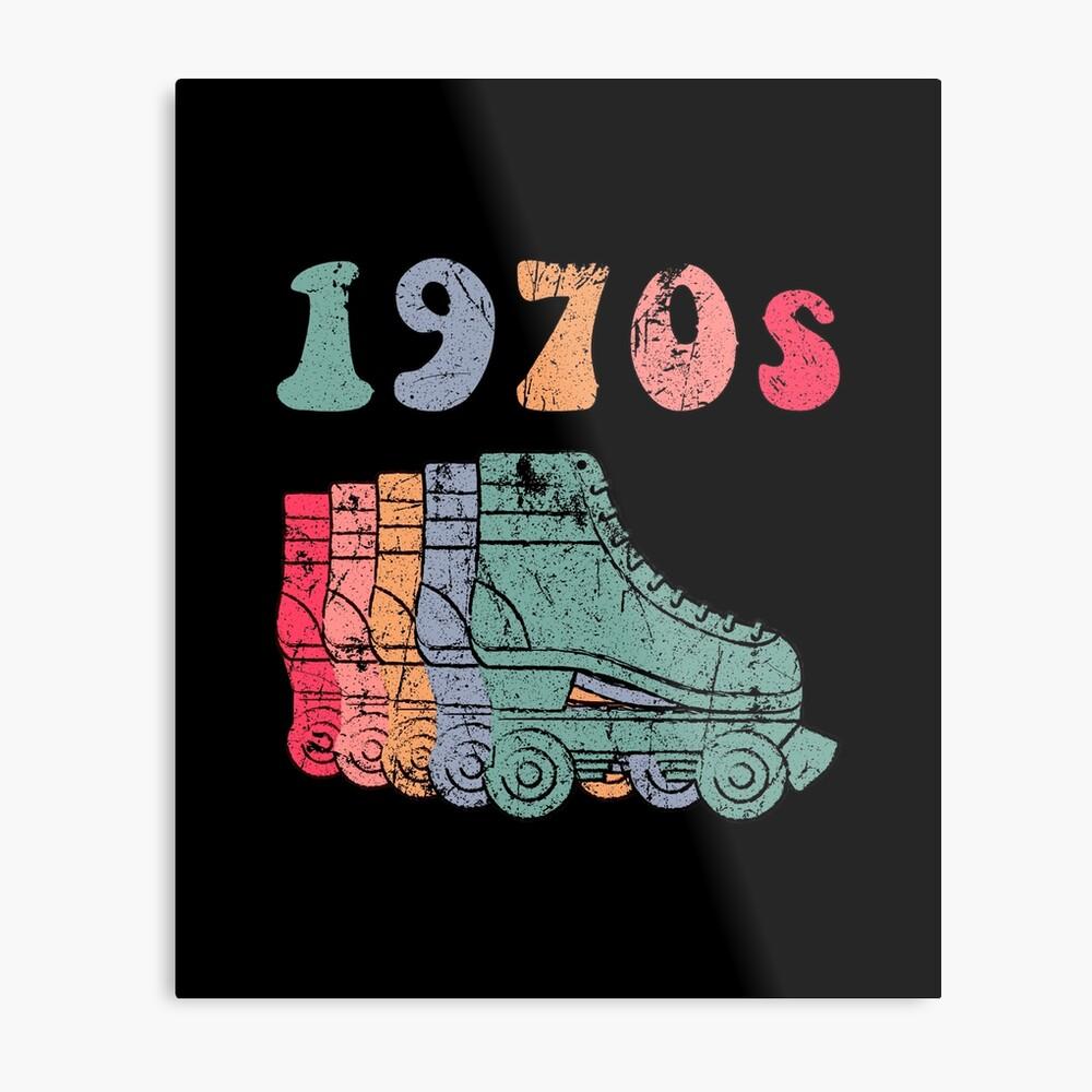 70er Jahre Rollschuhe Disco Derby Retro Metallbild