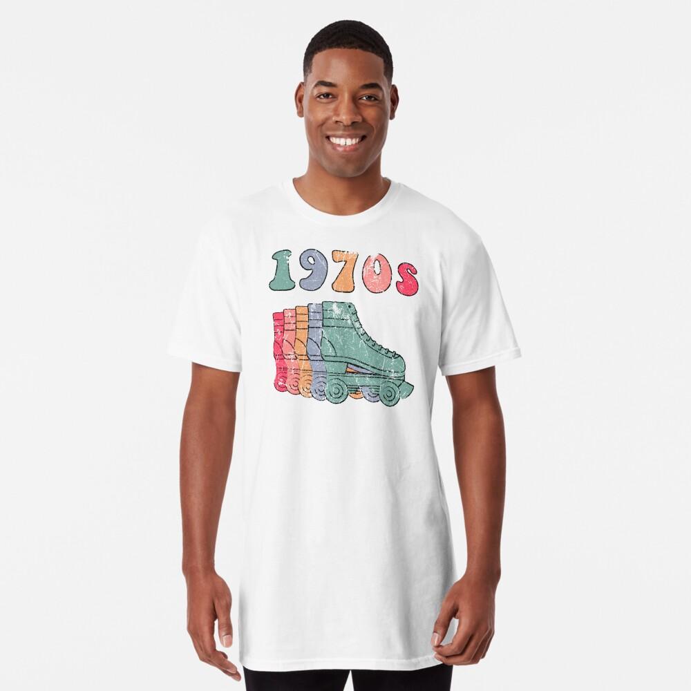 70er Jahre Rollschuhe Disco Derby Retro Longshirt