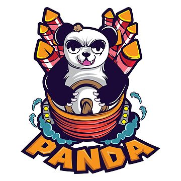 Panda MADNESS T-shirt Design Animals Black And White Rockets For Panda Lovers Mad Angry Big Fat by Customdesign200