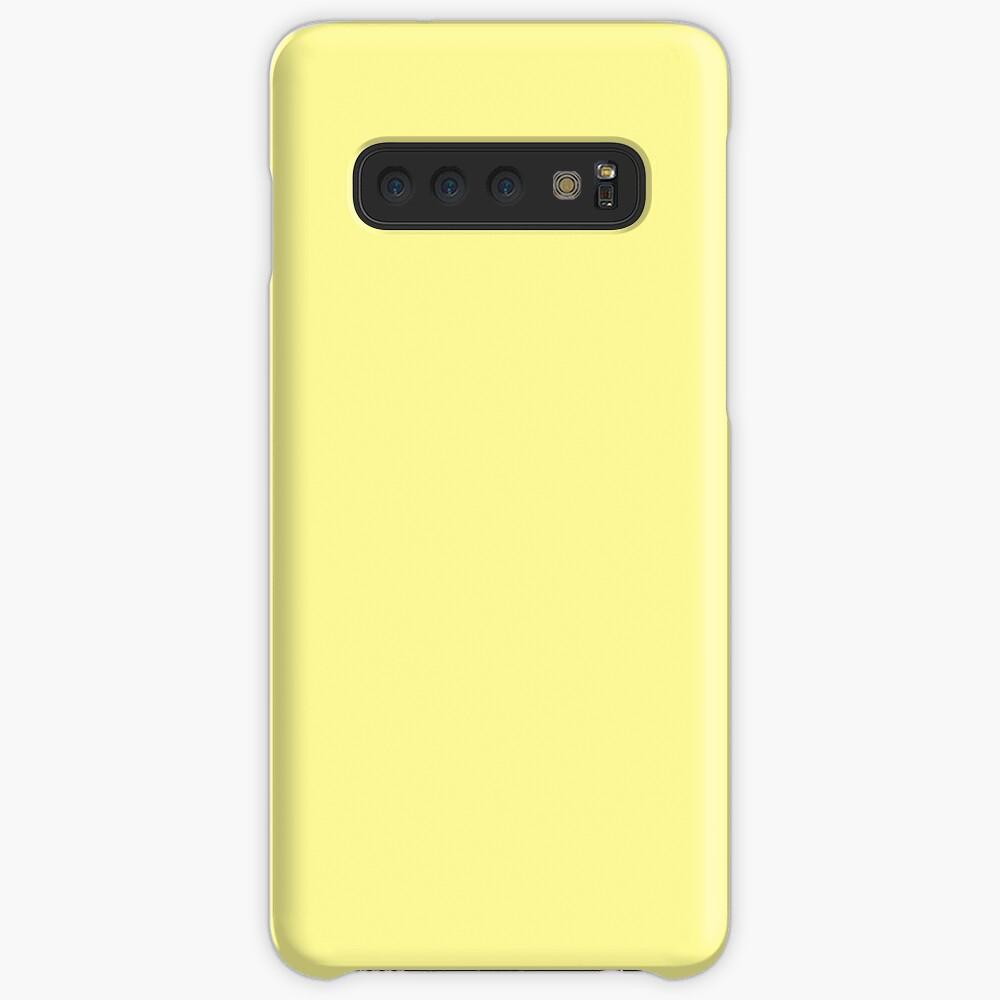 Pastellgelbe Volltonfarbe Hülle & Klebefolie für Samsung Galaxy