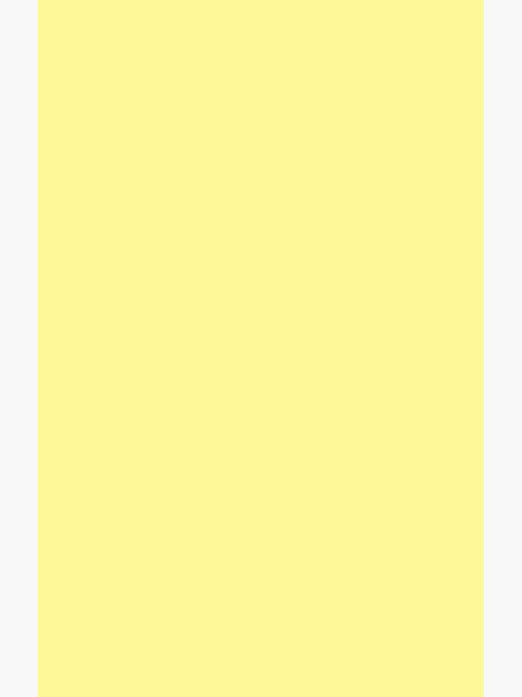 Pastellgelbe Volltonfarbe von SimpleLuxe