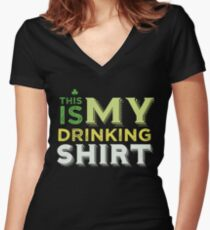 This Is my Drinking T Shirt Women's Fitted V-Neck T-Shirt