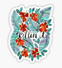 Killin 'It - Tropisches Rot & Grün Sticker