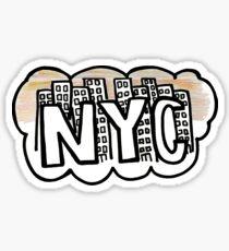 Pegatina NYC Sunset