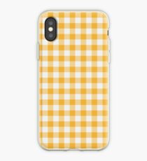 Gelber gingham iPhone-Hülle & Cover