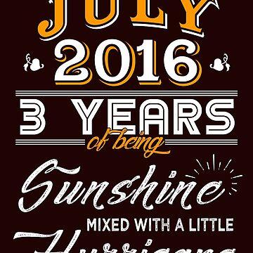 July 2016 Birthday Gifts - July 2016 Celebration Gifts - Awesome Since July 2016 by daviduy