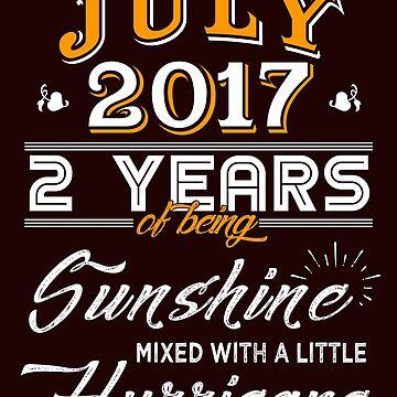 July 2017 Birthday Gifts - July 2017 Celebration Gifts - Awesome Since July 2017 by daviduy