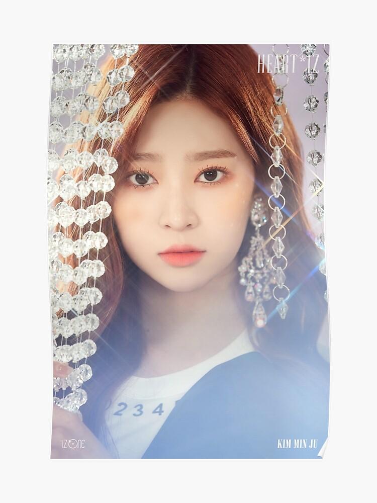 IZ*ONE HEART*IZ (2nd Mini Album) Sapphire Version | Kim Minjoo (김민주) |  Poster
