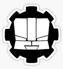 Heroic Gearo Emblem - Black Glossy Sticker