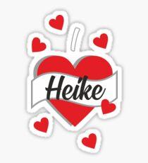 I Love Heike Sticker