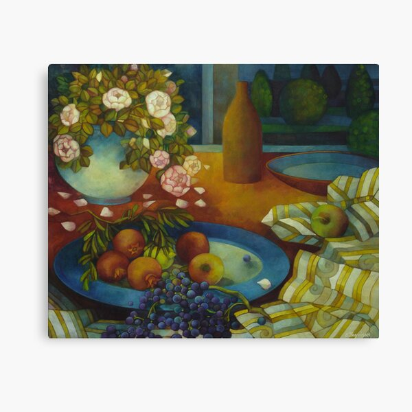 still-life with pomegranate Canvas Print