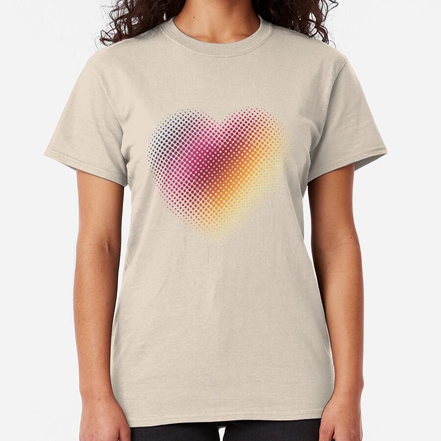 Linear Gradient on Halftone Heart (Paloma Gray/Gray) Classic T-Shirt