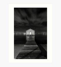 Boatshed Art Print