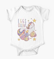Easter Unicorn Eggs Cellent Design Mädchen Frauen Baby Body Kurzarm