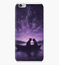 Lovers under a starlit sky iPhone Case