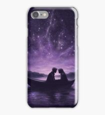 Lovers under a starlit sky iPhone Case/Skin