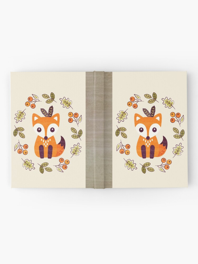 Alternate view of Little Fox with Autumn Berries Hardcover Journal