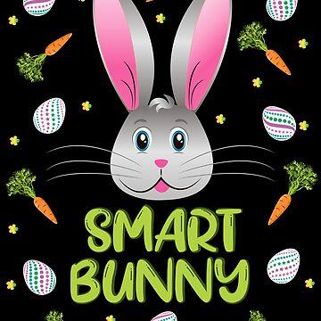 Easter Bunny Smart Rabbit Egg Hunt Funny Bunny Face by ZNOVANNA