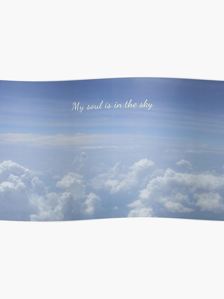 Blaue Himmel Weiße Wolken Mit Shakespeare Zitat Poster