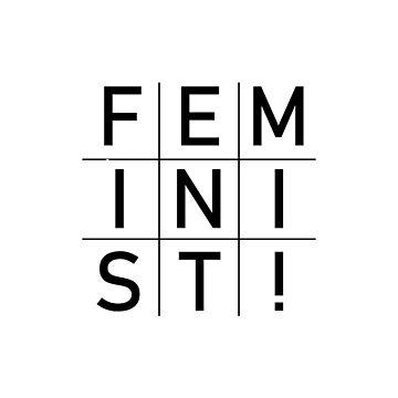 Feminist! Square Grid design by GetItGiftIt