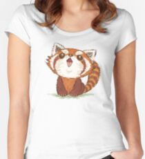 Red panda happy Women's Fitted Scoop T-Shirt