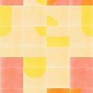 Retro Tiles 01 #redbubble #pattern by designdn
