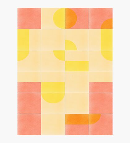 Retro Tiles 01 #redbubble #pattern Photographic Print