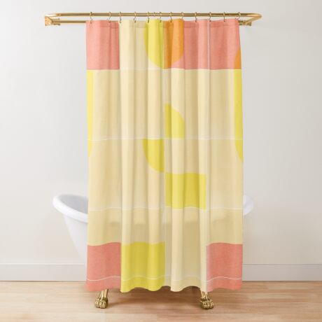 Retro Tiles 01 #redbubble #pattern Shower Curtain