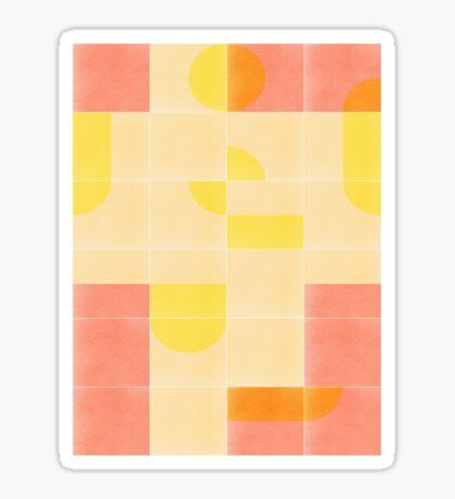 Retro Tiles 01 #redbubble #pattern Glossy Sticker