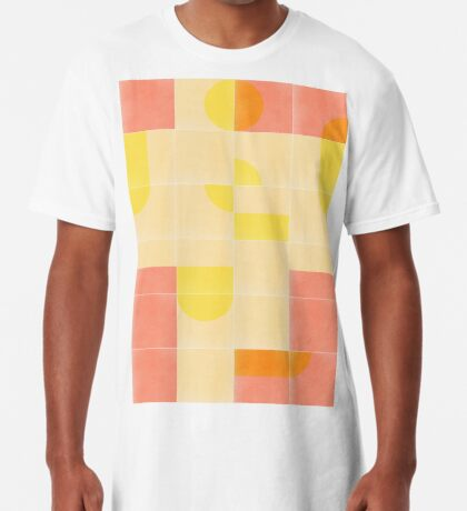 Retro Tiles 01 #redbubble #pattern Long T-Shirt