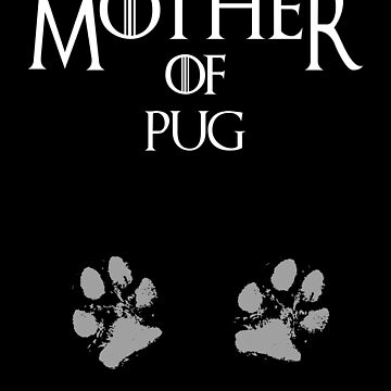 Cute Mother of Pug, #Pug  by handcraftline
