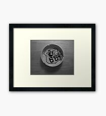 Route 66 Ashtray  Framed Print