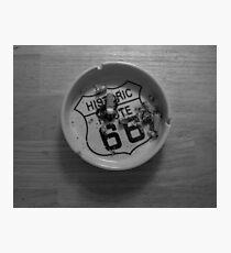 Route 66 Ashtray  Photographic Print